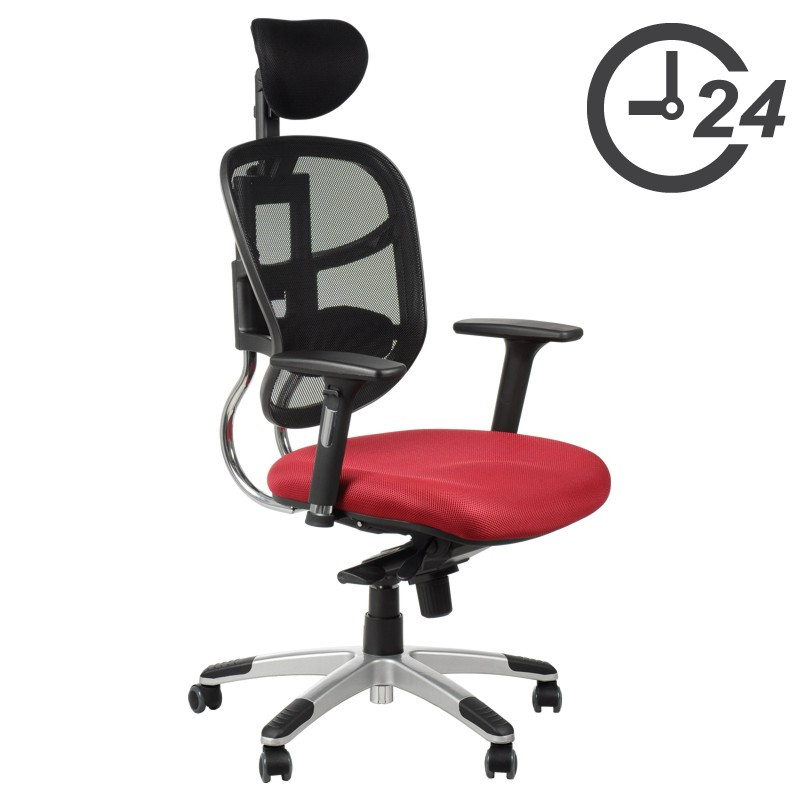 Swivel office chairs with seat slide system