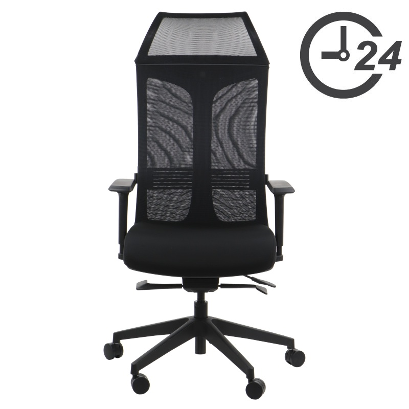 Swivel office chairs with self-weighing mechanism