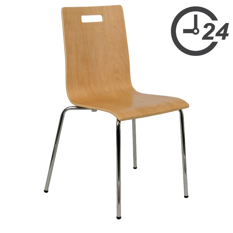 Plywood stationary chairs