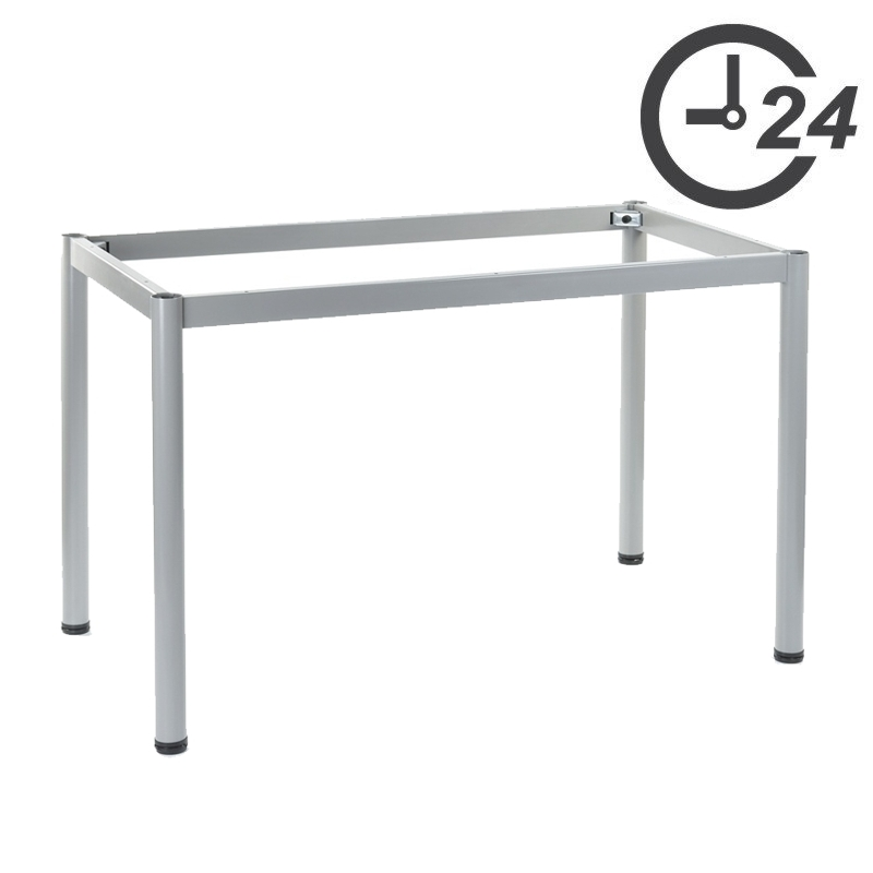 Table and desk frames with round legs