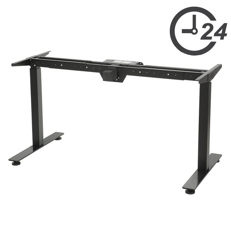 Table and desk legs with electric height adjustment